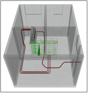 3D-representation of a simple substation